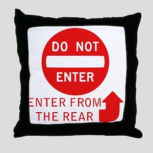donotenter Throw Pillow