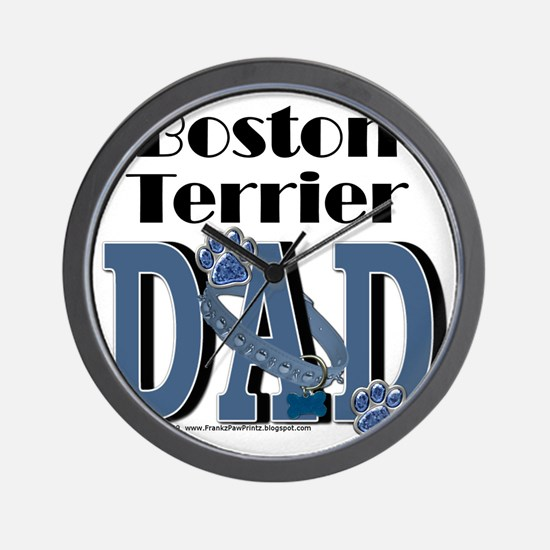 BostonTerrierDad Wall Clock