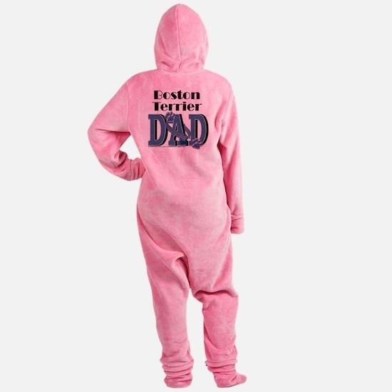BostonTerrierDad Footed Pajamas