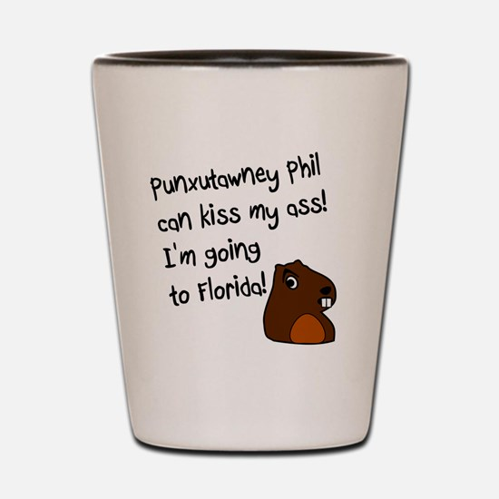 Punxutawney Phil Shot Glass