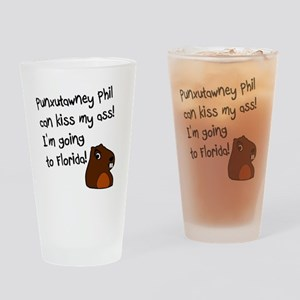 Punxutawney Phil Drinking Glass