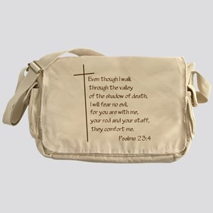 Psalms23-4 Brown No Shadow Messenger Bag