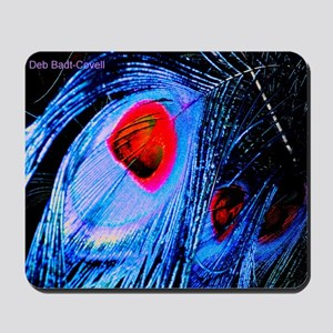 -periwinkle w red eye hue - full lowered Mousepad