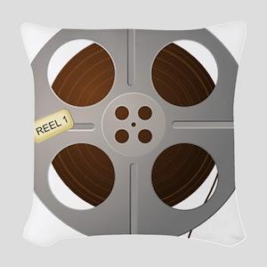 Movie Reel Woven Throw Pillow