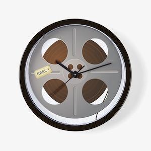 Movie Reel Wall Clock