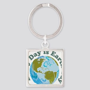Earth_Day Square Keychain