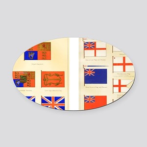 Maritime Flags of Great Britain 18 Oval Car Magnet