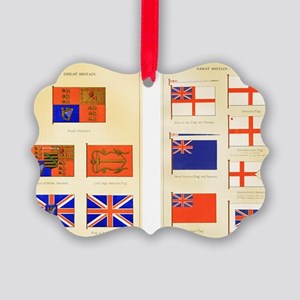 Maritime Flags of Great Britain 1 Picture Ornament