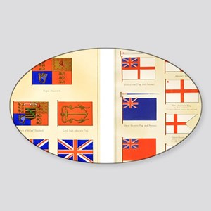 Maritime Flags of Great Britain 187 Sticker (Oval)