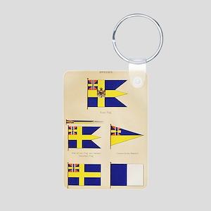 Maritime Flags of Sweden c Aluminum Photo Keychain