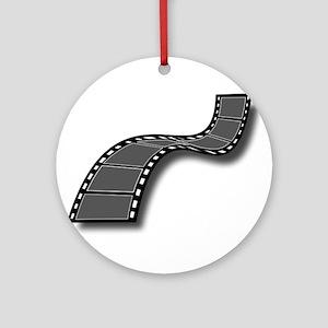 Movie Filmstrip Ornament (Round)