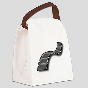 Movie Filmstrip Canvas Lunch Bag