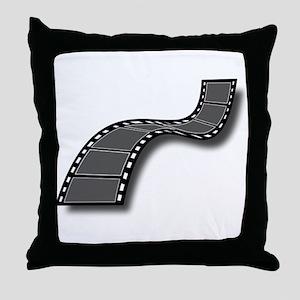 Movie Filmstrip Throw Pillow