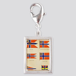 Maritime Flags of Norway cir Silver Portrait Charm