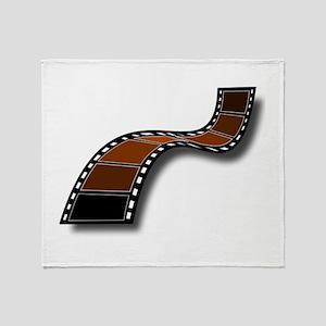 Brown Movie Filmstrip Throw Blanket