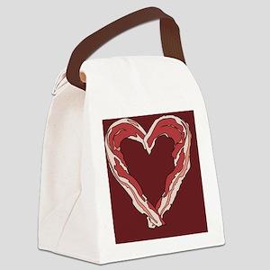 Baconheart3 Canvas Lunch Bag