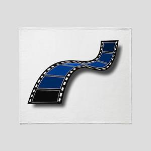 Blue Movie Filmstrip Throw Blanket