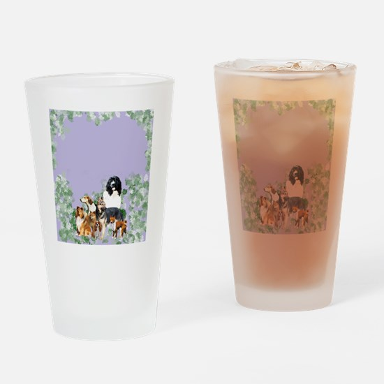 dogs for blanket Drinking Glass