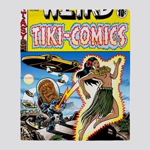 Weird Tiki Comics Throw Blanket