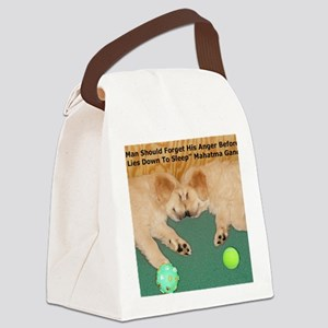 Golden Retriever Puppies, Mahatma Canvas Lunch Bag