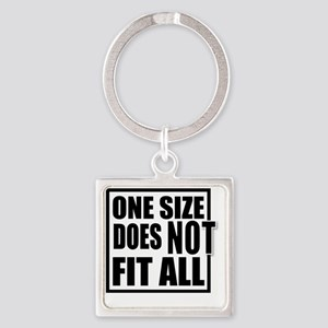 ONE SIZE HR Square Keychain