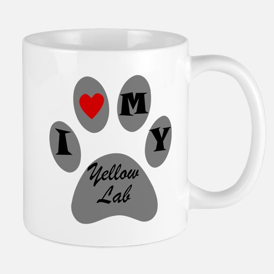 I Heart My Yellow Lab Mugs