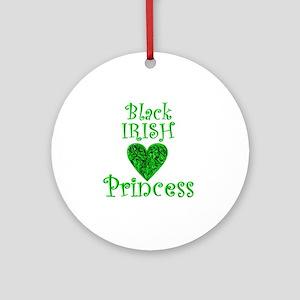 2-black_irish_princess_1 Round Ornament