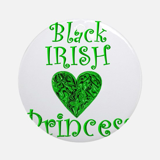 2-black_irish_princess_1 Round Ornament