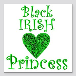 "2-black_irish_princess_1 Square Car Magnet 3"" x 3"""