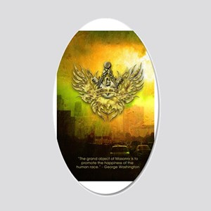 FreemasonryHumanRace 20x12 Oval Wall Decal