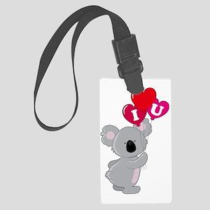 koala heart balloons cp Large Luggage Tag