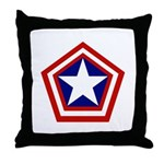 General America Throw Pillow