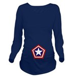 General America Long Sleeve Maternity T-Shirt