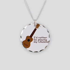 ukuleletshirt Necklace Circle Charm