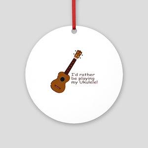 ukuleletshirt Round Ornament