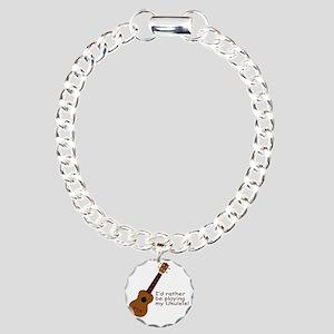 ukuleletshirt Charm Bracelet, One Charm