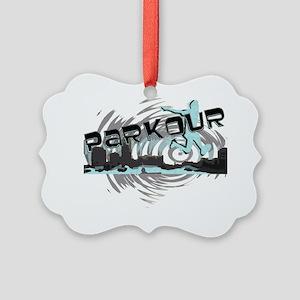 Parkour Shirt 4 Simplified 2 Picture Ornament