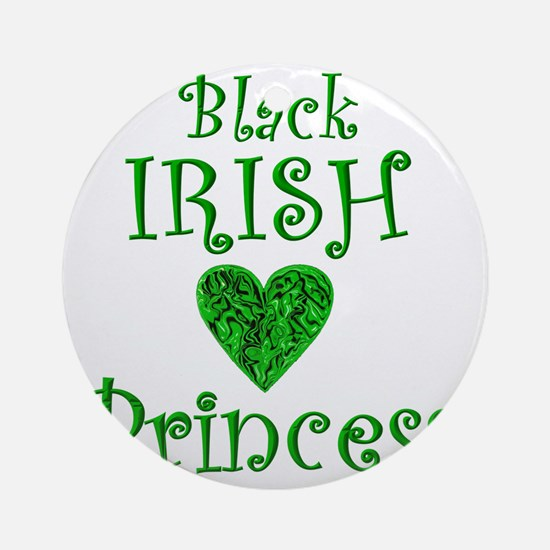 2-black_irish_princess_11 Round Ornament