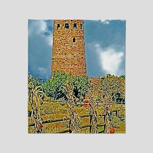 Grand Canyon Watchtower Art Decor Pr Throw Blanket