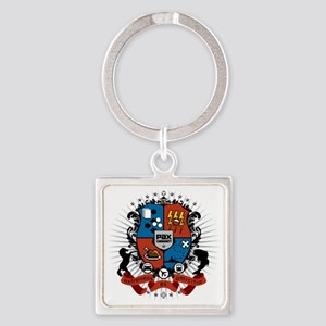 pax_comm_east11_grey Square Keychain