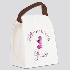 Amazing Grace PINK VERTICAL Olivi Canvas Lunch Bag