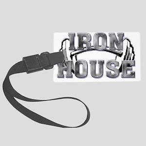 Iron House2 Name  Large Luggage Tag