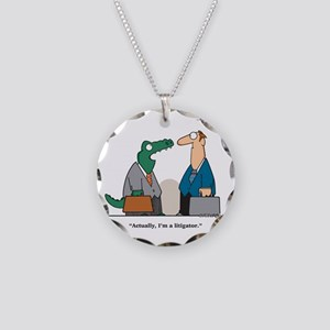 lawyer Necklace Circle Charm