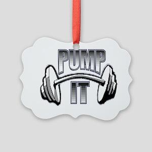 Pump it  Picture Ornament