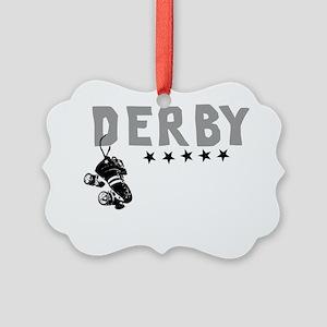 Cafepress derby design Picture Ornament