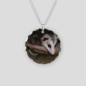 Possum child SQ 10 Necklace Circle Charm