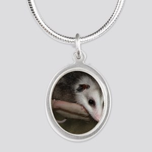 Possum child SQ 10 Silver Oval Necklace