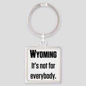 Wyoming2 Square Keychain