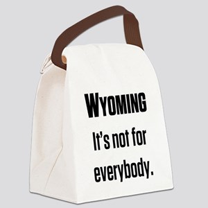 Wyoming2 Canvas Lunch Bag