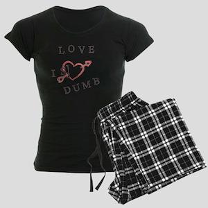 Love is Dumb Women's Dark Pajamas